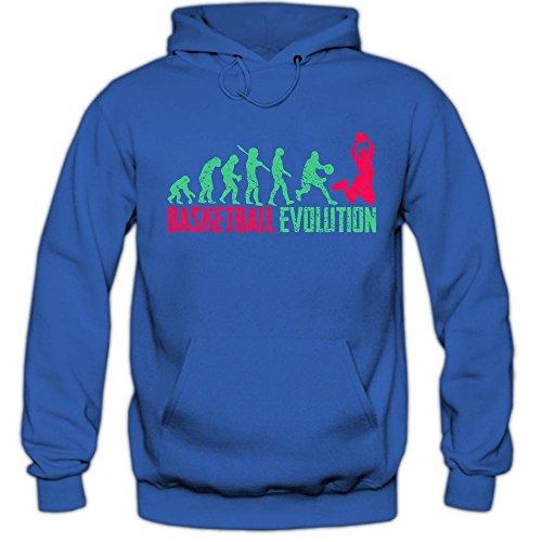 Basketball Evolution #1 Hoodie   It\'s Not a Game It\'s Love   Teamsport   Fanshirt   Herren   Kapuzenpullover, Farbe:Blau (Royalblue F421);Größe:M