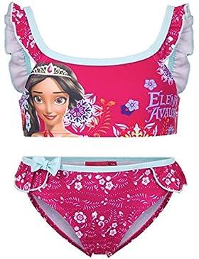 Disney Elena di Avalor - Costume 2 Pezzi Bikini con Volant Full Print Mare Piscina - Bambina - Novità Prodotto...