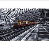 Pintura Digital Estación Central De Berlín Pintura De Paisaje Para Colorear Por Números Pintados A Mano Lienzos Pintados A Mano Para La Decoración Del Hogar 40X50CM