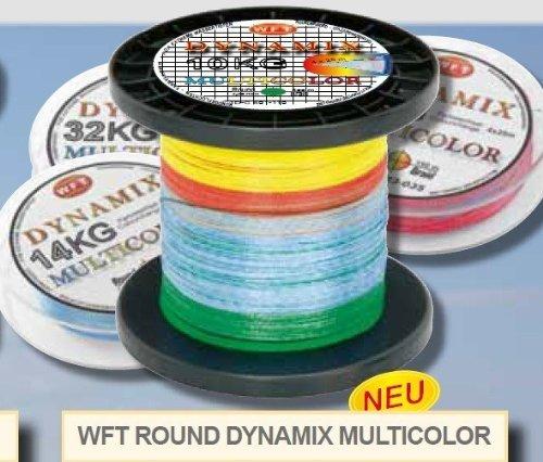WFT Round Dynamix KG Multicolor 1000m geflochtene Schnur, Durchmesser:0.30mm