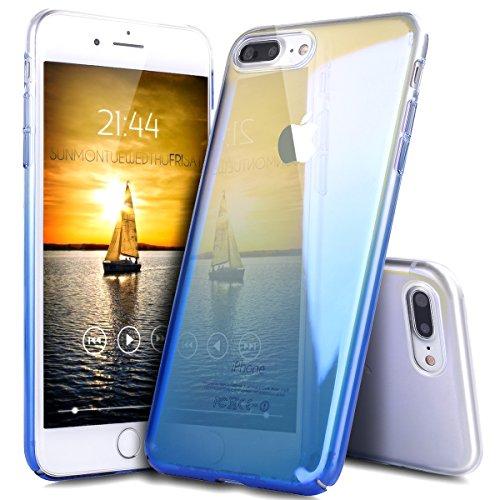 iPhone 7 Plus Hülle,ikasus® Hard Hart Hülle Schutz Handy Hülle Case Tasche Etui Bumper Crystal Case Hülle für Apple iPhone 7 Plus (5,5 Zoll) Verlauf Farbe Mirror Weich Hard Bumper Hart Hülle Stoßdämpf Blau