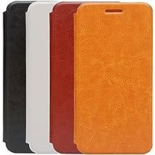 Prevoa ® 丨Doogee F3 F3 Pro Funda - Flip PU Funda Cover Case para Doogee F3 F3 Pro - Pantalla 5 pulgadas Smartphone - Naranja