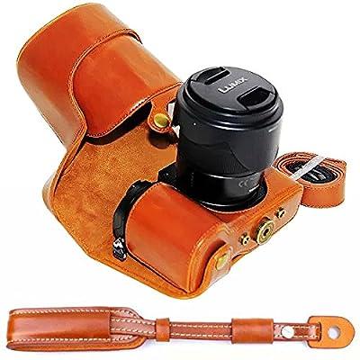 first2savvv XJPT-GX8-01 Noir PU Cuir étui Housse Appareil Photo numérique pour Panasonic Lumix DMC-GX8 GX 8 avec Lens 14-140mm de First2savvv