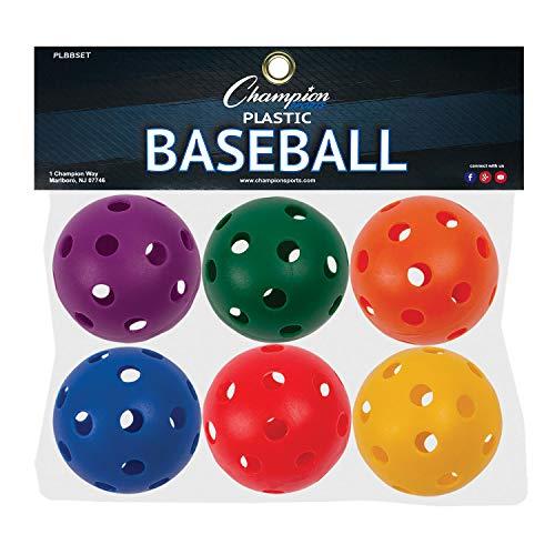 Champion Sports Kunststoff-Baseballs, 6 Stück -