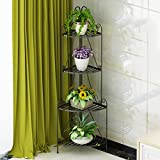 flores estantería Estantes para plantas escalera metálica macetas flores estantería, flores estantería ,estantería de soporte para plantas ( Color : Negro )