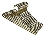 Drying clothes rack (Anzahl: 10) Aluminiumlegierung Kleiderbügel/Schutzgestell/ Kleiderbügel/Haus, Rutschfest, multifunktional, Anti-Rost (Farbe : Messing)