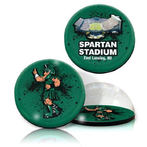 Paragon Bone China (Paragon NCAA Michigan State University Spartan Stadion und Logo in 5,1cm Ø Kristall Magneten. Von 2Stück)
