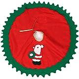 Lukis Rund Weihnachtsbaumdecke Weihnachtsbaum Teppich Weihnachtsmann Ø80cm Rot