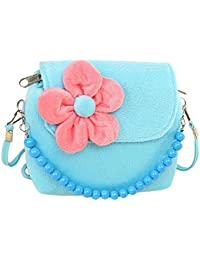 Worsendy Kinder Geldbörse Nette Umhängetasche Samt Geldbörse Oblique Tasche Sonnenblume Perle verziert für Mädchen