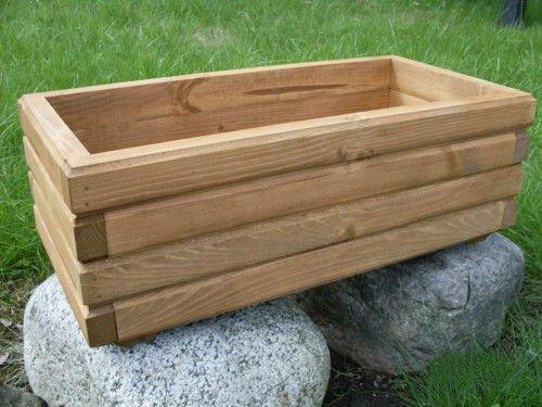 NEU Pflanzkasten aus Holz TOP Pflanzkübel Garten Terrasse fertig montiert D2 Nuss (100 cm)
