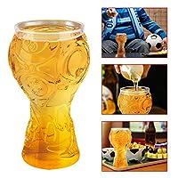 Ubegood Luxe Transparent Verre Bière Le verre sans plomb garantit une boisson saine et son aspect ultra-clair complète tout décor. Construit durablement avec du verre épais, il est solide dans votre main. La capacité de 400ML suffit pour ajouter des ...