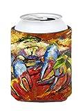 Caroline's Treasures JMK1252CC Red Crab Can or Bottle Hugger, Multicolor