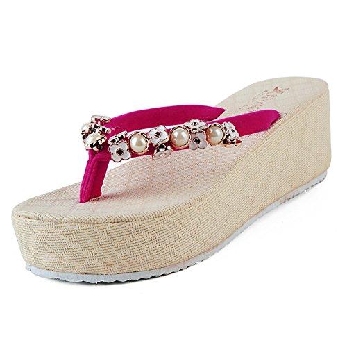 Strass moda Zeppe Sandali in estate/infradito svago coreano/Sandali antiscivolo B