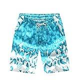 Lazzon Costume da Bagno Uomo Vita Bassa Pantaloncini da Bagno Mare Nuoto Spiaggia Sportivi Casual (Verde, 3XL)