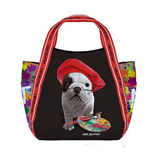 Petit sac shopping Téo Jasmin - Artiste