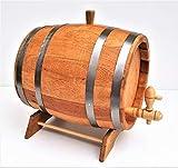 5 L en bois Baril en chêne BOIS TONNEAU AVEC en bois Appuyez sur et piédestal