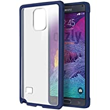 Orzly® - SAMSUNG GALAXY NOTE 4 Gel Funda en AZUL - Protective Flexible Soft Silicone Phone Case Cover Skin para SAMSUNG GALAXY NOTE 4 SmartPhone - 2014 Modelo