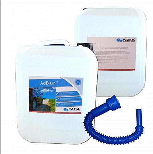 AdBlue hochreine Harnstofflösung für SCR Abgasnachbehandlung 2x10 Liter mit Einfüllschlauch