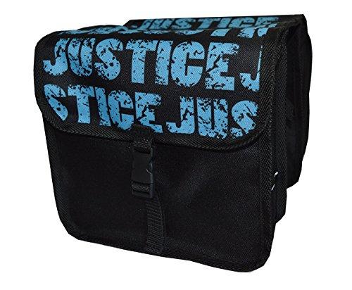 FAHRRADTASCHE Kinder Satteltasche Gepäckträgetasche Doppel 2 x 5l (10. Mini - Justice)