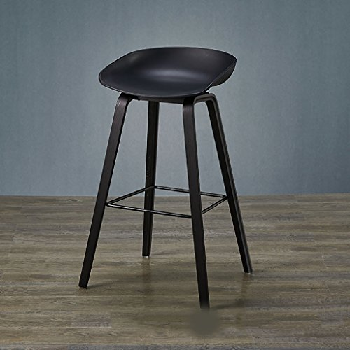 LHby Stuhl Massivholz Bar Stuhl Designer Bar Hocker Einfache Nordic Bar Schreibtisch Stuhl Hohe Hocker Moderne Creative Bar Hocker Barhocker (Farbe : Schwarz, größe : 74cm)