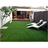 Yazlyn Collection Polyester And Polyester-Blend Artificial Grass Carpet-Mat (6.5 X 3 Feet) With Door Mat (lawnmat_6.5 X 3 Feet)