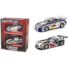 Scx A184S300. Pack 2 coches para pista slot analogica. Porsche 911 GT3 + Mercedes SLS GT3