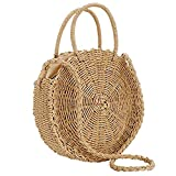 Fablcrew - Bolso de Mano para Mujer, diseño Redondo,...