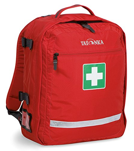 The group leaders First Aid Pack;First-aid to carry on your back;Sensible division into compartments for bandages, first-aid items and medication (not included);Back carrying system;Hip strap