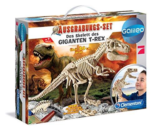 Clementoni 69491.4 - Galileo, Ausgrabungs Set, Das Skelett des Giganten T Rex, ()