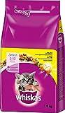 Whiskas Katzen-/Trockenfutter Junior für Junge Katzen mit Huhn, 6 Beutel (6 x 1,9 kg)