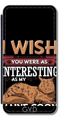 Leder Flip Case Tasche Hülle für Apple iPhone 6 Plus / 6S Plus - Maine Coon Katze Tier Haustier by WonderfulDreamPicture Lederoptik