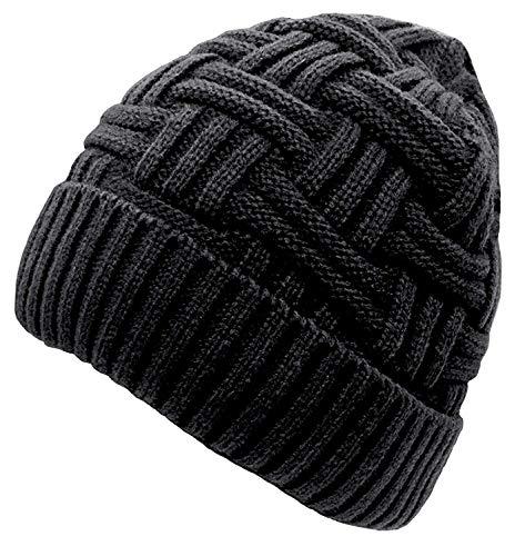 Chalier Beanie Herren Damen Wintermütze Warm Strickmütze Winter Mütze Slouch Long mit Fleece Innenfutter MEHRWEG -