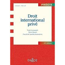 Droit international privé (Précis)