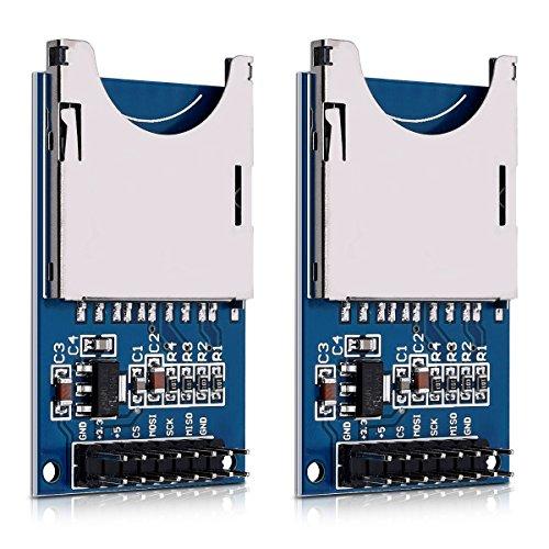 kwmobile 2X modulo SD Card per Arduino e Raspberry Pi - Kit 2X modul Lettore e scrittore - Scheda Reader SPI per Arduino e Altri Microcontroller