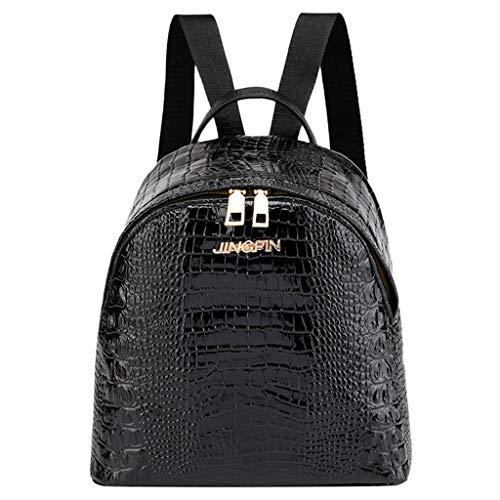 XZDCDJ Mode Frauen Travel Student Alligator Muster Schultasche Rucksack Umhängetasche -