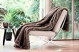 Brunswick Ours de luxe Fausse fourrure Marron Double Jeté de lit (200x 150cms)