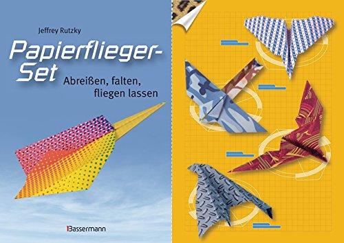 Papierflieger-Set: Abreißen, falten, fliegen lassen. Buch und bedrucktes Faltpapier (Flugzeug-buch Für Kinder)
