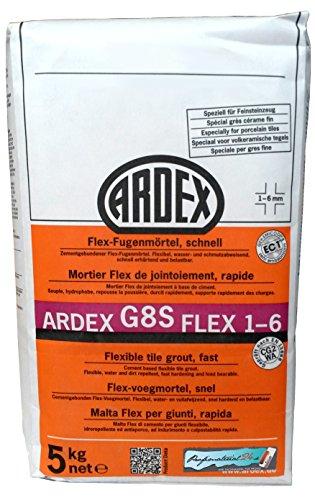 """ARDEX G8S Flex-Fugenmörtel 1-6mm 5kg, Farbe """"steingrau"""" schnell erhärtend und belastbar"""