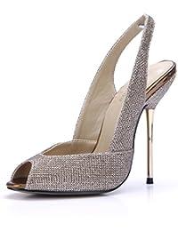 ZHZNVX Solo le scarpe a molla femmina e il nuovo mirror sexy banchetto interessanti di ferro e con la luce di cui erano a reticolo…
