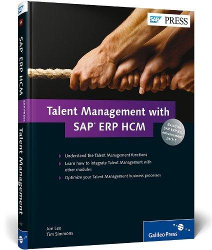 Talent Management with SAP ERP HCM by Joe Lee (20-Aug-2012) Hardcover par Joe Lee