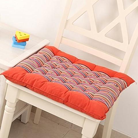 Tamponi sedia di percalle/Office computer sedia cuscino/Tessuto da pranzo sedie cuscino-A 43x43cm(17x17inch)