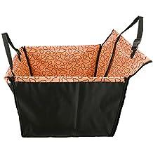 BIGWING Style-Protector de Asiento de Coche para Mascota Perro Gato Impermeable Plegable Alfombrilla o Caja de Almacenaje 53 x 60 x35 CM, Nube Naranja