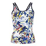 Head Testa da Donna Vision Graphic Strap Tank Top, Donna, 814278roywmed, Royal Blue/Yellow, M