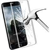 Protection écran Galaxy S7 Edge, Samione Galaxy S7 Edge Screen Protector Résistant Dureté 9H Glass 3D Incurvé en Verre Trempé pour Samsung Galaxy S7 Edge - 1 pack (Transparent)