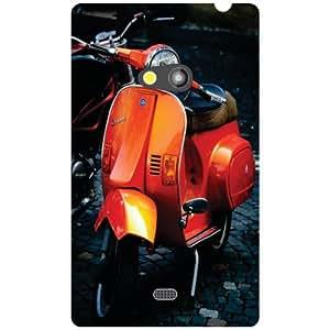 Nokia Lumia 625 Back Cover - Orange Designer Cases