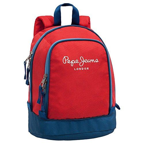 Pepe Jeans Bicolor Boy Mochila Tipo Casual, 8 Litros, Color Rojo