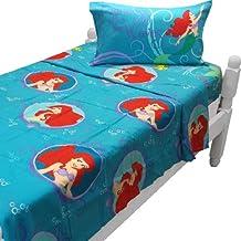 Sirenita doble juego de sábanas princesa olas ropa de cama