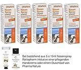 Nasenspray ratiopharm Sparset 5 x 15 ml inklusive einer hochwertigen Handcreme o. Duschbad von Pharma Nature