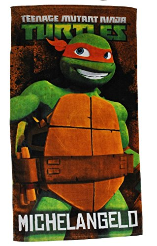 Unbekannt Badetuch Turtles 70 cm * 140 cm Handtuch Strandtuch Baumwolle - Michelangelo Schildkröten Teenage Mutant Ninja Turtle Jungen 70x140 für Kinder ()