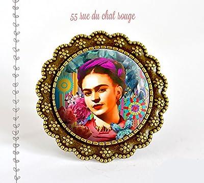 Bague Frida Kahlo, Mexique, Bohême chic, gypsy, multicouleur